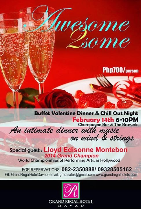 grand regal hotel davao valentines day dinner 2015
