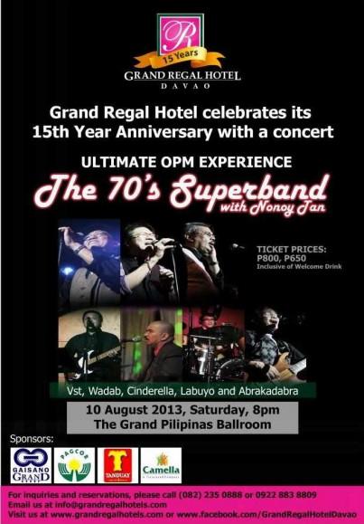 Grand Regal Hotel anniversary concert with Nonoy Tan