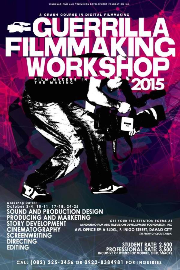 guerrilla filmmaking workshop 2015