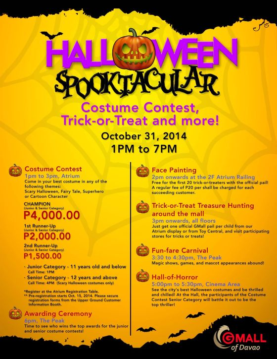 halloween spooktacular gaisano mall davao october 31 2014