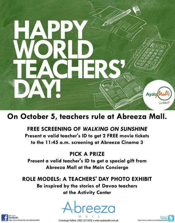 happy world teachers day abreeza october 5