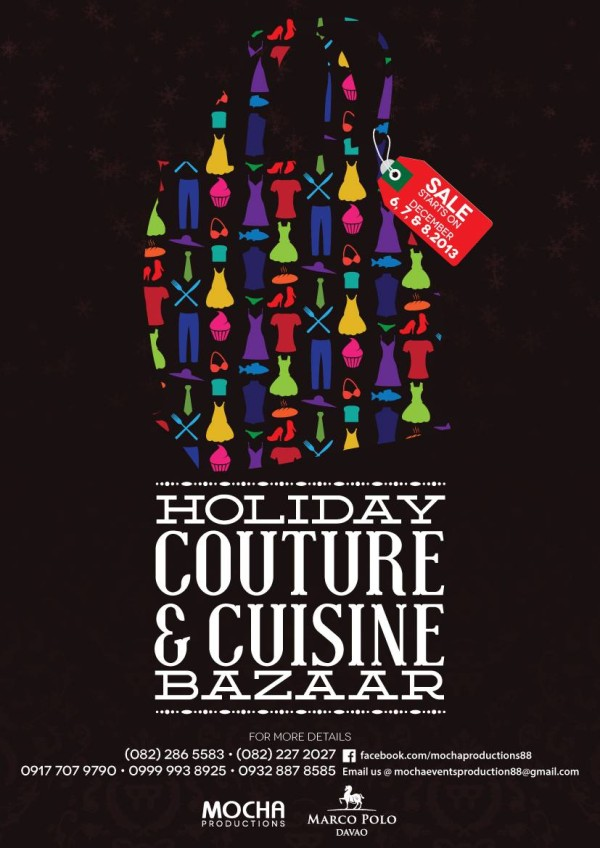 holiday couture cuisine bazaar