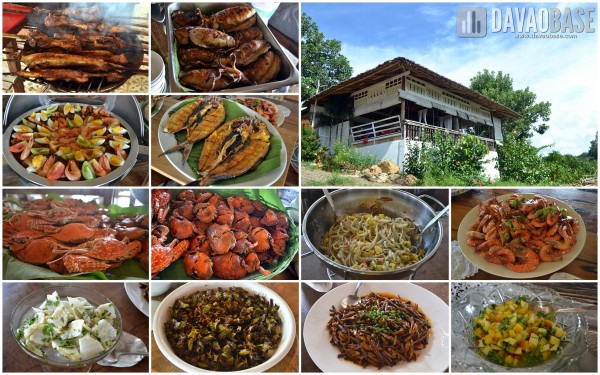 A banquet of freshly prepared dishes at Camina Balay na Kawayan in Guimaras