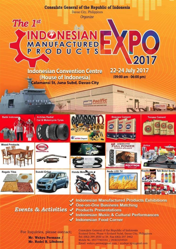 indonesian expo manufactured products 2017
