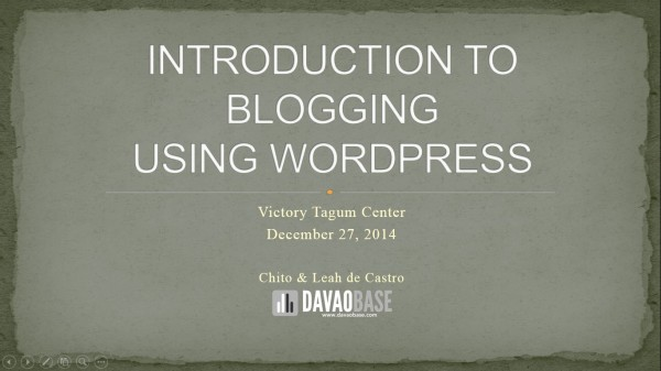 Blog Talk by DavaoBase