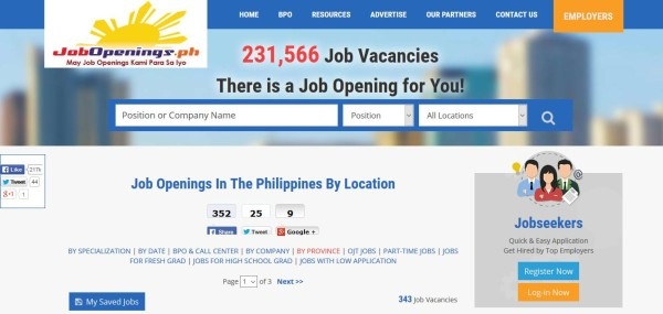 job hiring website jobopeningsph