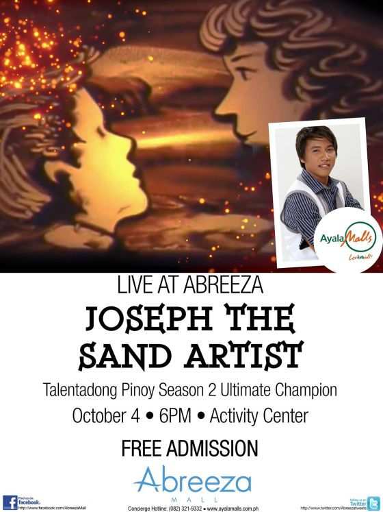 joseph the sand artist abreeza mall october 4 2014