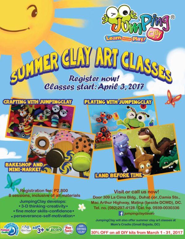 JumpingClay Davao summer classes 2017