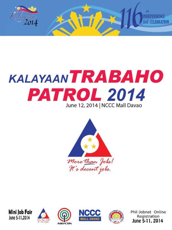 june 12 nccc mall davao job fair kalayaan trabaho patrol