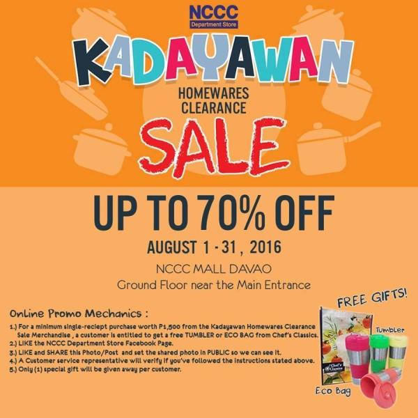 kadayawan 2016 sale nccc department store