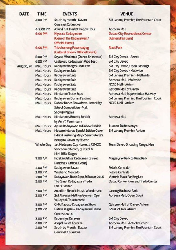 kadayawan 2016 schedule of events 4