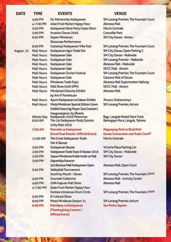 kadayawan 2016 schedule of events 5