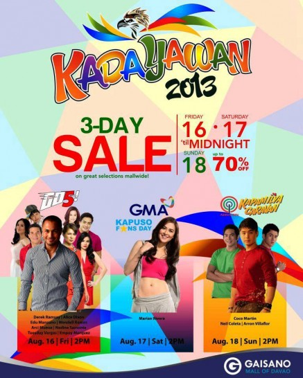Kadayawan mall shows at Gaisano Mall