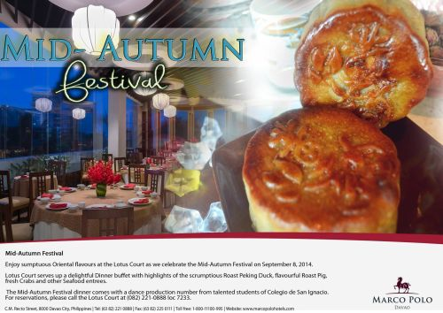 marco polo hotel lotus court mid-autumn festival september 8 2014