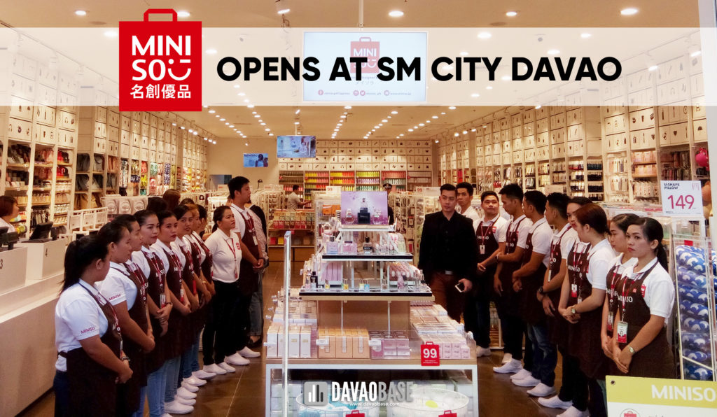Miniso Opens at SM City Davao on August 11, 2017