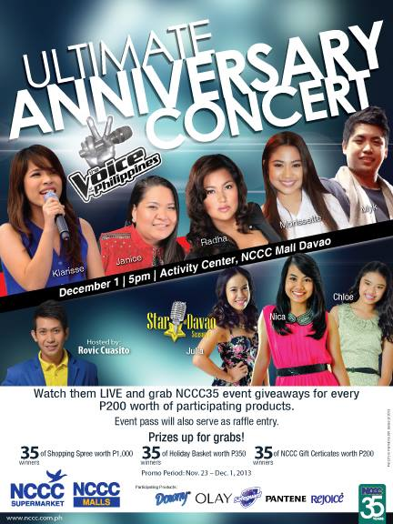 nccc mall dvao anniversary concert