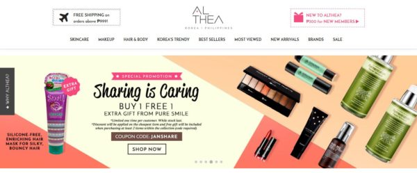 online stores from the philippines althea
