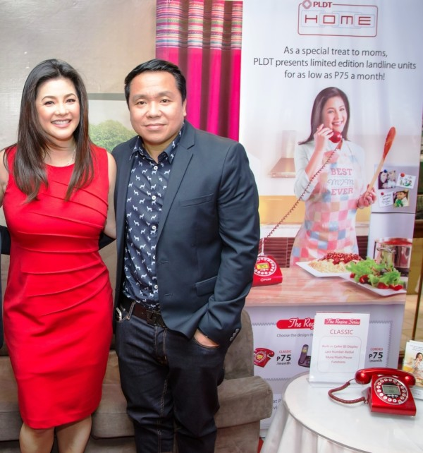 Asia's Songbird Regine Velasquez with PLDT VP and Home Marketing Director Gary Dujali