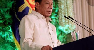 President Rody Duterte in his inauguration speech on June 30, 2016.