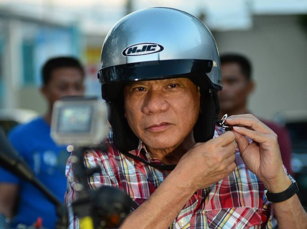 Duterte was once issued a traffic ticket for not wearing his helmet (Image source: Rody Duterte Facebook page)