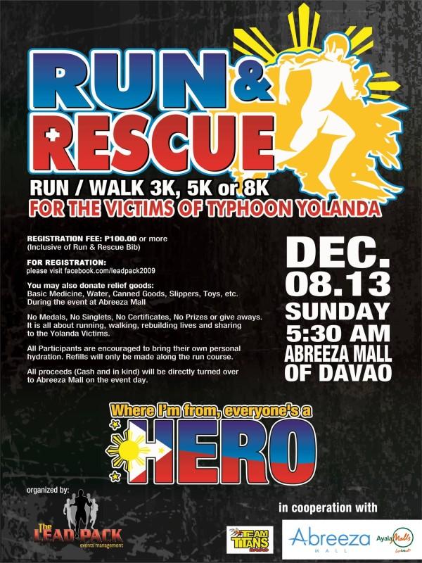 run and rescue abreeza
