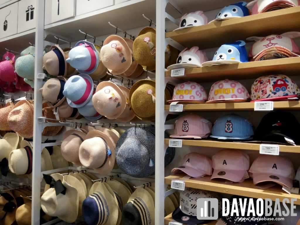 hats and caps at Miniso Davao