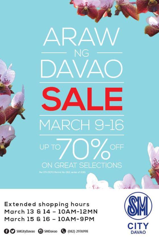 sm city davao araw ng davao 2015 sale