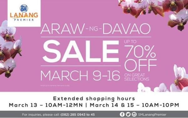 sm lanang premier araw ng davao 2015 sale