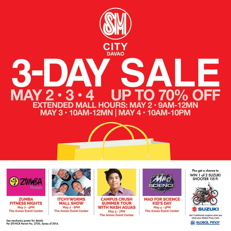 3-day sale at SM City Davao