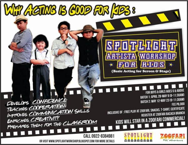 spotlight artista workshop for kids