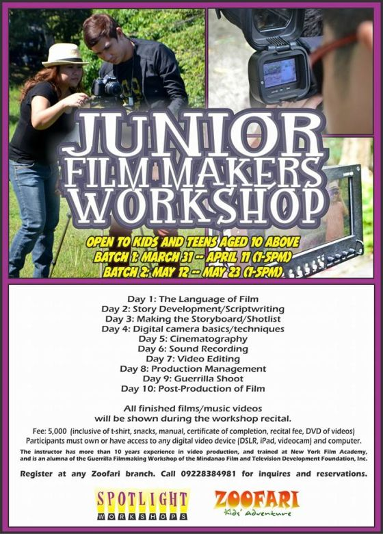 spotlight junior filmmakers workshop