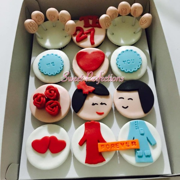 sweet perfections 27th anniversary cupcakes