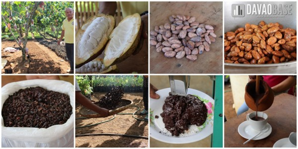 Process of making hot chocolate from fresh cacao at Rosit Cacao Farms