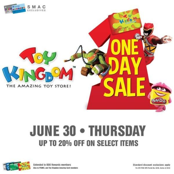 toy kingdom one day sale june 30 2016