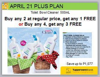 tupperware promo surprises plus plan april 21
