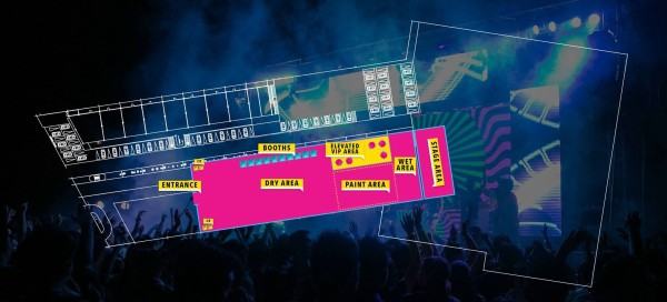 Vibrant Paint & Music Festival Davao Event Map (from Manic Nightnings Productions)