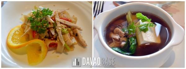 Salad: Singaporean Chicken Glass Noodles Soup: Bak Kut Teh