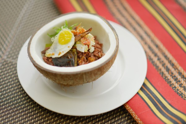 warm tuyo with brown rice